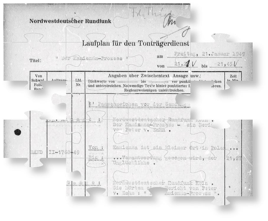 """Der Leipziger """"Kamienna-Prozess"""" im westdeutschen Rundfunk (I)"""